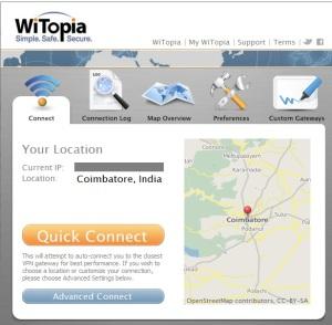 witopia screen