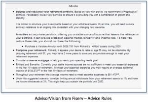 SdvisorVision - Advice Rules