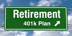 Retirement 401k Sign