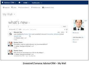 Envestnet AdvisorCRM - My Wall