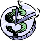 Slice of a Dollar Coin
